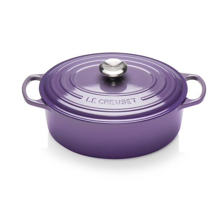 Cast Iron Oval Casserole - 29cm; Ultra Violet