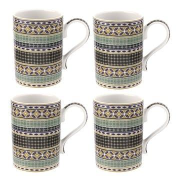 Atrium Geo 12oz Mug, Set of 4