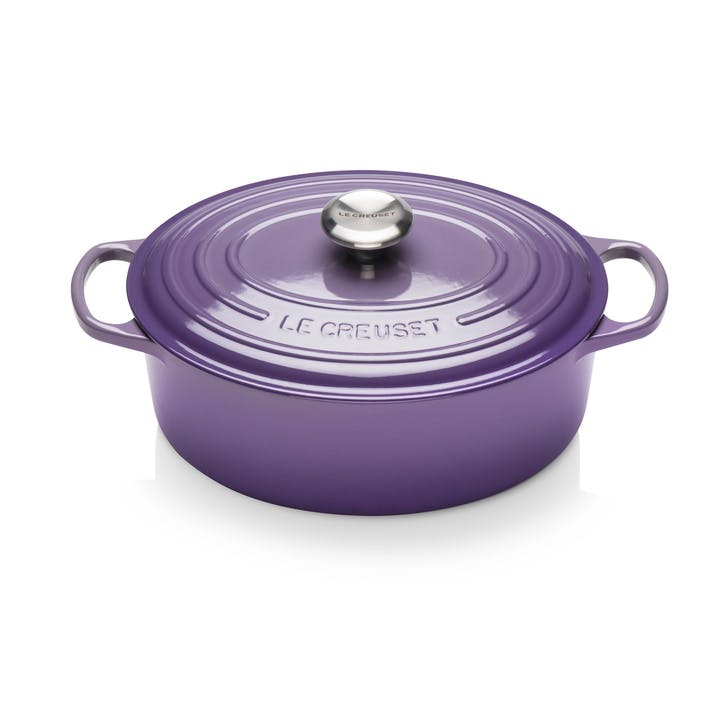 Cast Iron Oval Casserole - 29cm; Ultra Violet