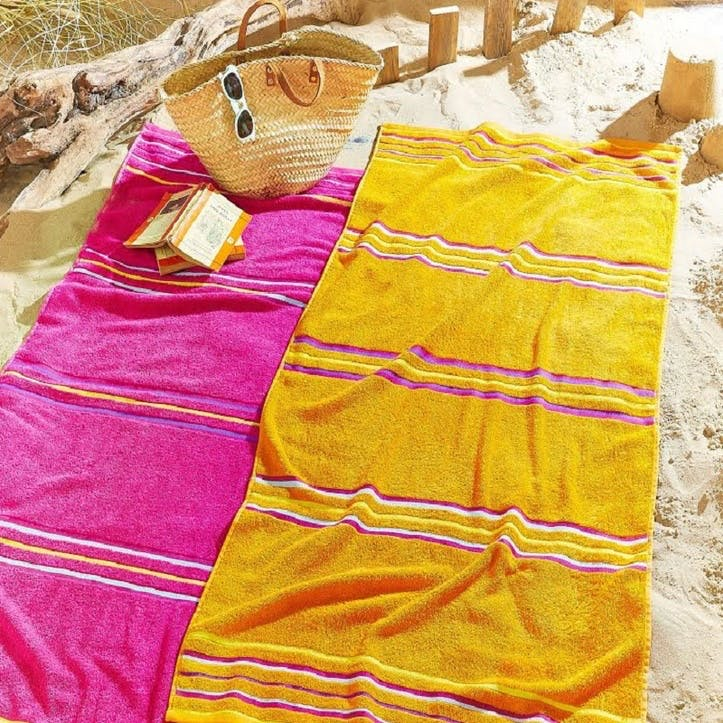 Rainbow Beach Towels Set, Pink