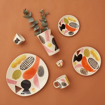 Clachan Abstract Multi Colour Dinner Plate, D26cm