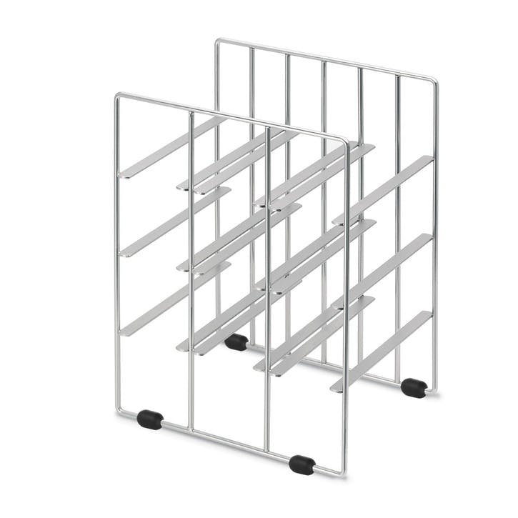 Wine Rack, Small, Matt Silver