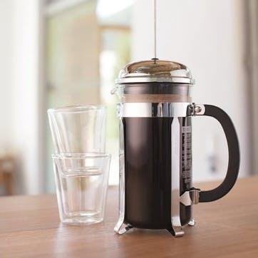 Chambord, 8 Cup Coffee Maker, 1 Litre, Shiny