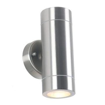 Dual Outdoor Wall Light; Steel