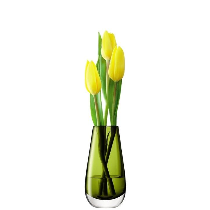 LSA Flower Colour Bud Vase 14cm, Olive