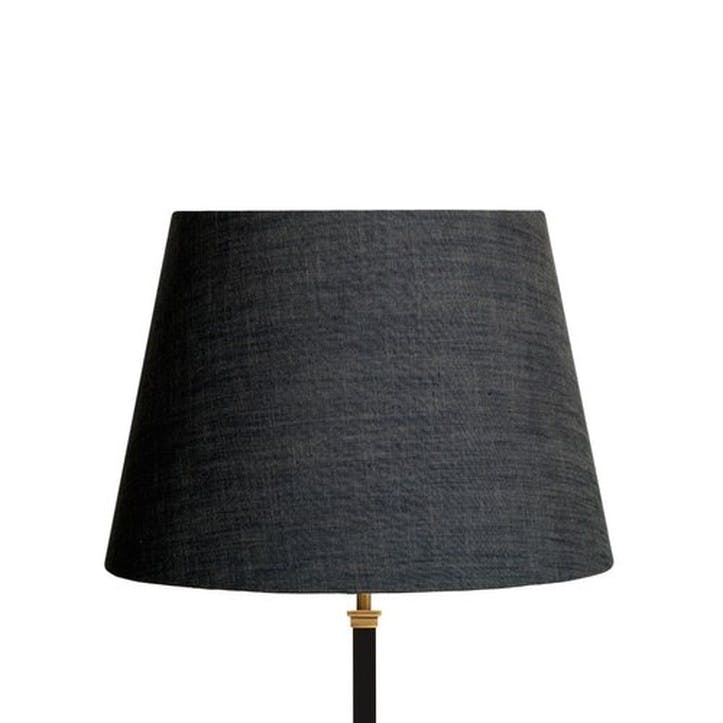 Straight Empire Shade in Charcoal Chambray, 40cm