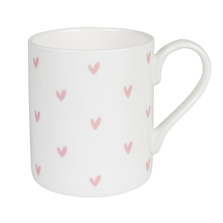 Pink 'Hearts' Mug - Large
