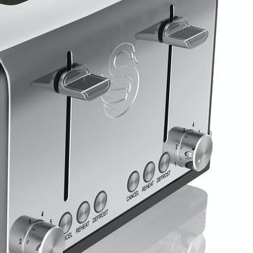 Retro 4-Slice Toaster, Black