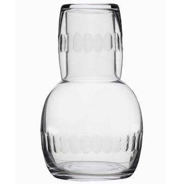 Lens Patterned Crystal Carafe & Glass Set