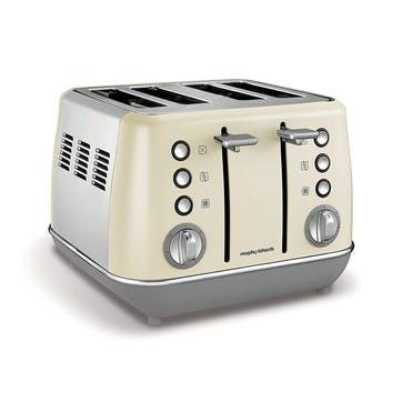 Evoke 4 Slice Toaster; Cream