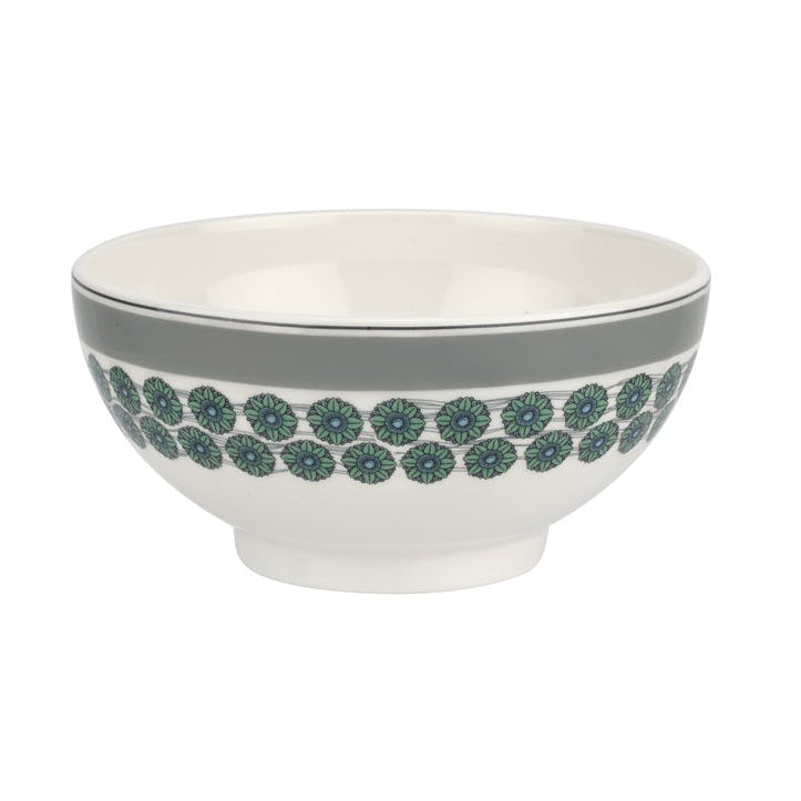 "Westerly Cereal Bowl, Set of Four - 6""; Grey Band"