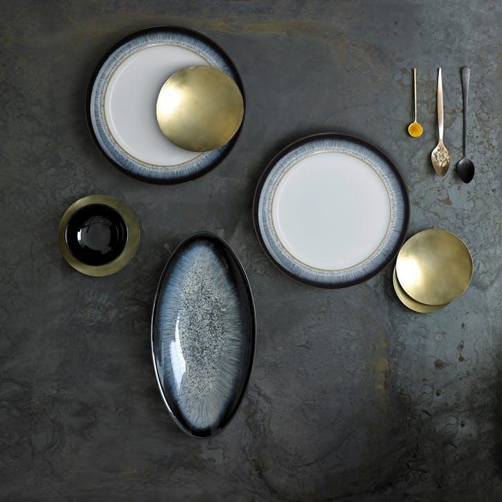Halo 16 Piece Tableware Set, Black/ Blue