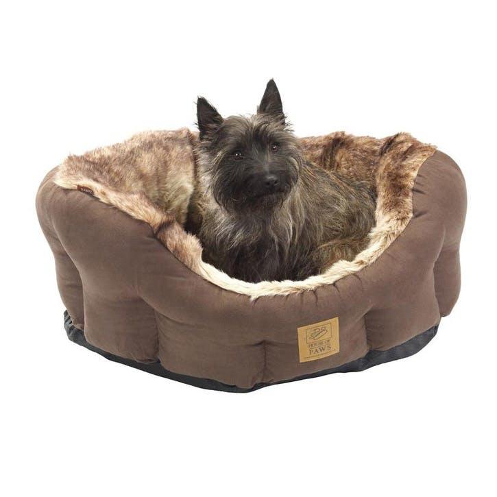 Arctic Fox Snuggle Oval Dog Bed, Medium