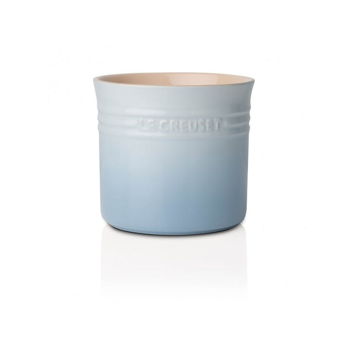 Stoneware Utensil Jar - Large; Coastal Blue