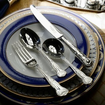 Kings Sovereign Silver Plated Cutlery Canteen Set - 84 Piece