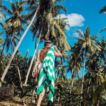 Cabana Beach Towel, Cancun Green, Extra Large
