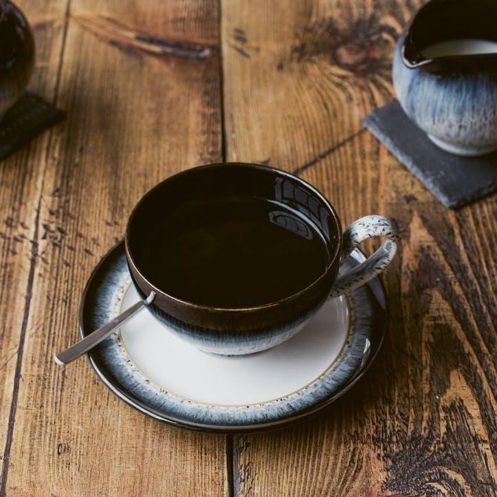 Halo Tea/ Coffee Saucer, Black/ Blue