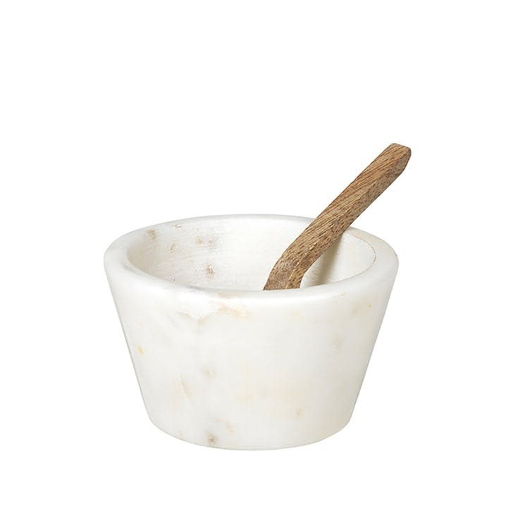 Marble and Wood Bowl with Spoon