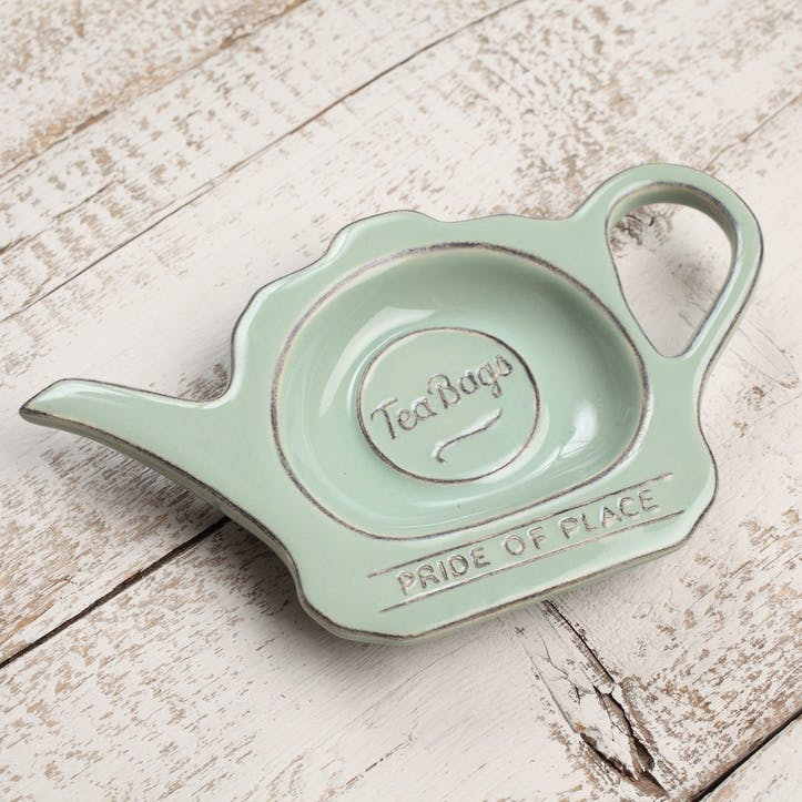Pride of Place Tea Bag Tidy, Old Green