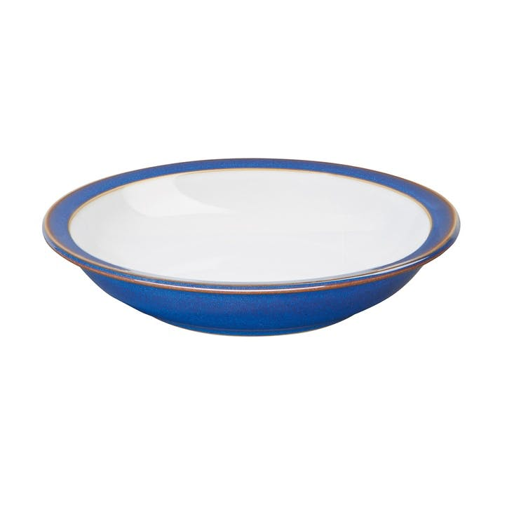Imperial Blue Shallow Rimmed Bowl, 21cm