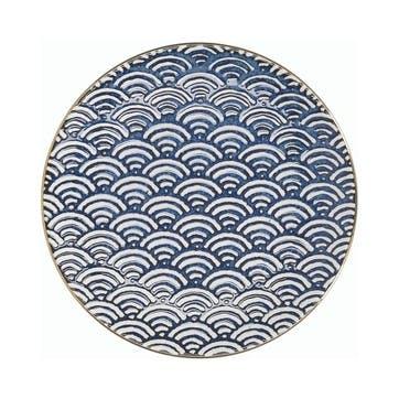 Satori Side Plate, Seigaiha Wave