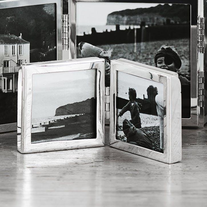 "Fine Silver Mini Hinged Photo Frame 2x2"""