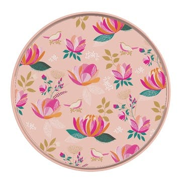 Peony Collection Melamine Round Tray