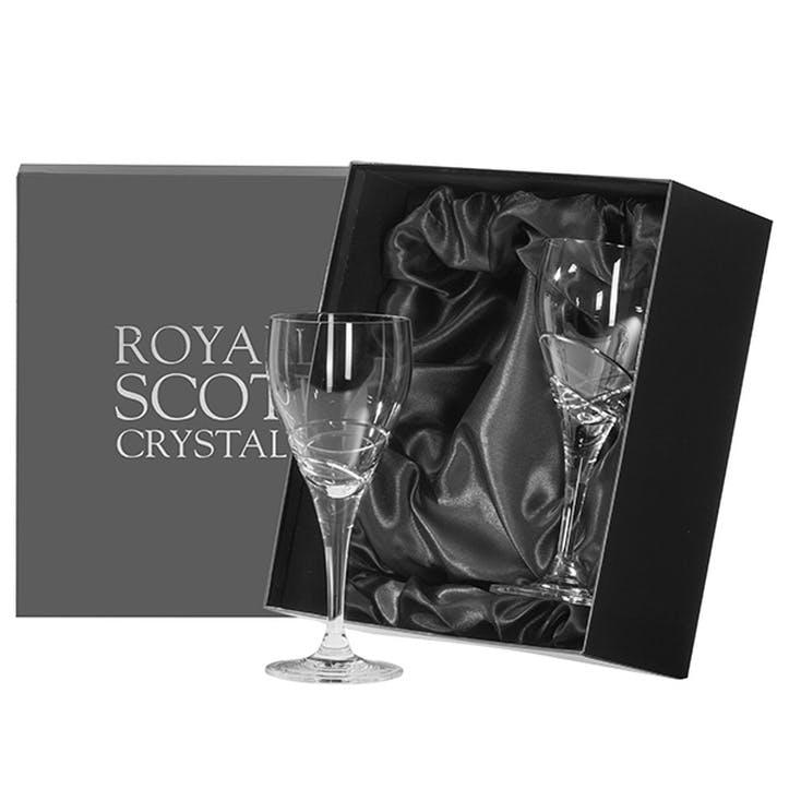 Skye Small Crystal Wine Glasses, Set of 2