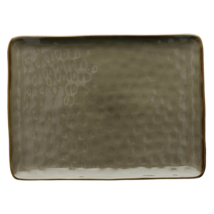 Concerto Serving Platter, Large, Grey