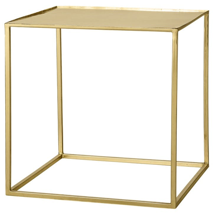 Cube Coffee Table, Gold