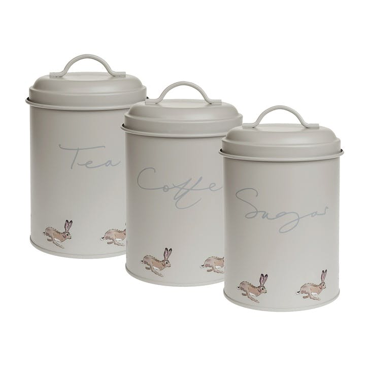 'Hare' Storage Tins, Set Of 3