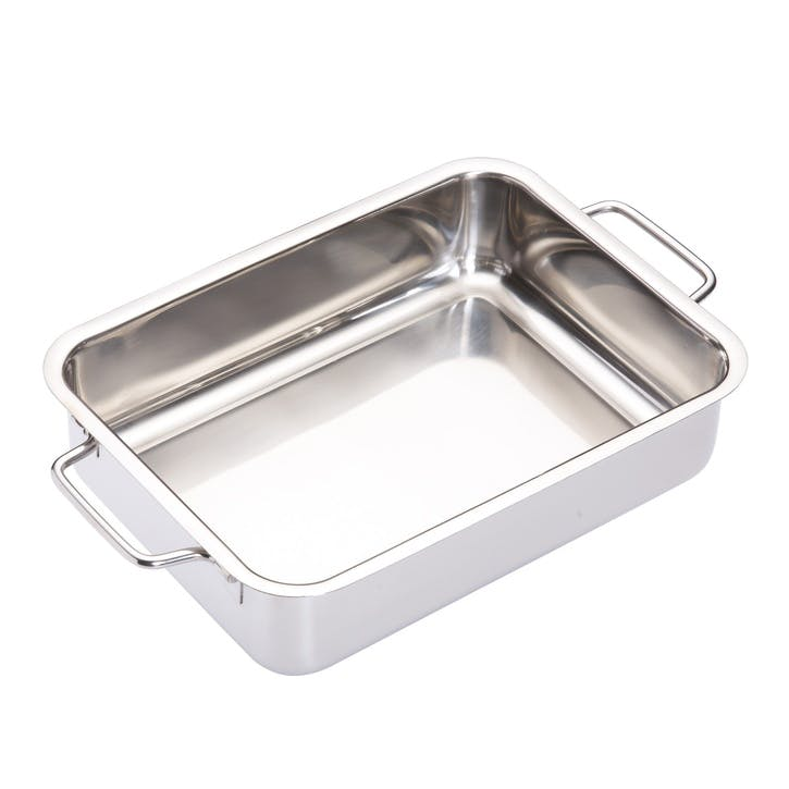 Stainless Steel Heavy Duty 27cm x 20cm Roasting Pan