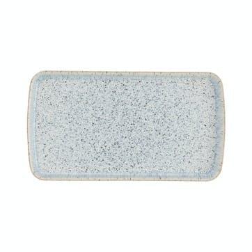 Halo Speckle Rectangular Platter, 25cm, Blue