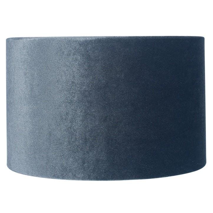 Velvet Cylinder Shade - 30cm; Slate