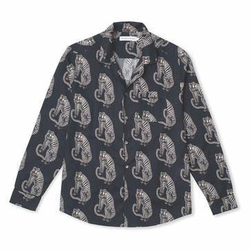 Tiger Collared Pyjama Shirt, Extra Large