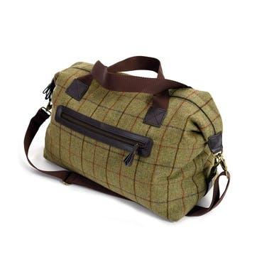 Weekend Bag; Khaki Crosshatch