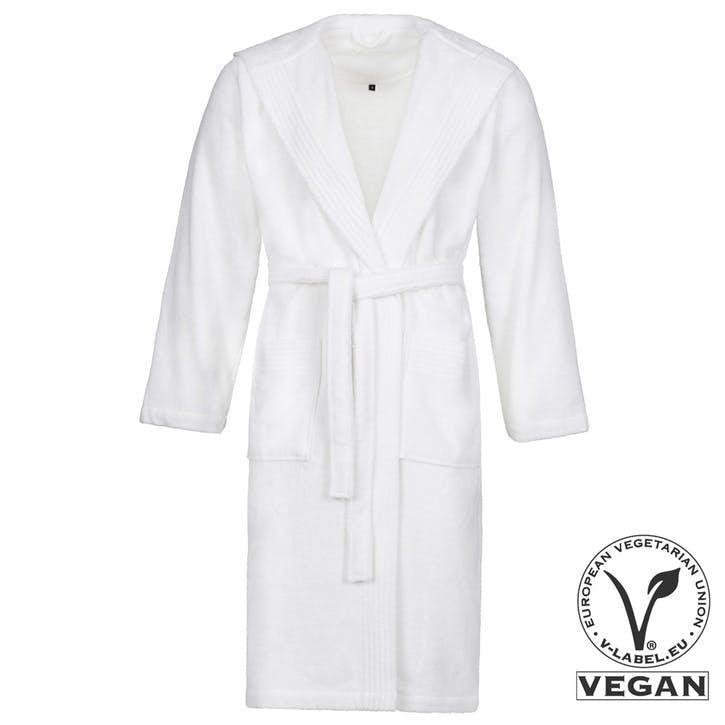 Vegan Life Unisex Hooded Bathrobe, White