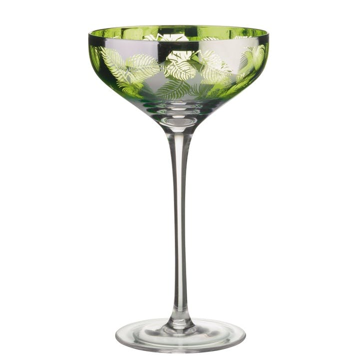 Tropical Leaves Champagne Saucer