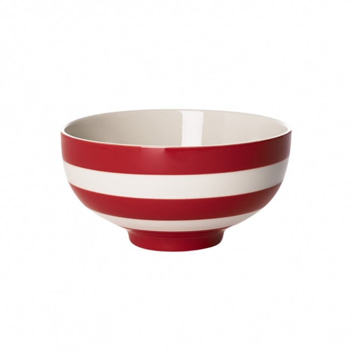 Set Of 4 Oriental Bowls, 13cm, Red