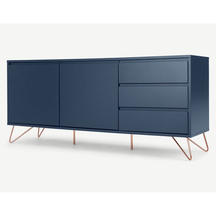 Elona, Sideboard, Dark Blue and Copper