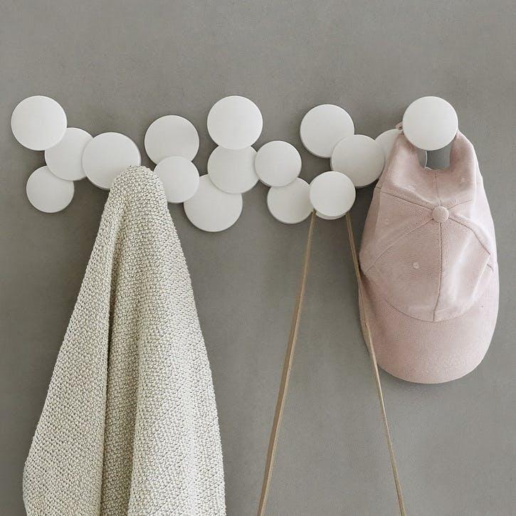 Bubble 5-Hook, White