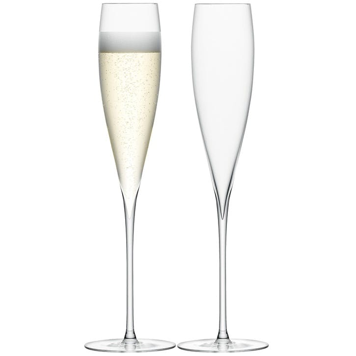 LSA Savoy Champagne Flute, Set of 2, Clear