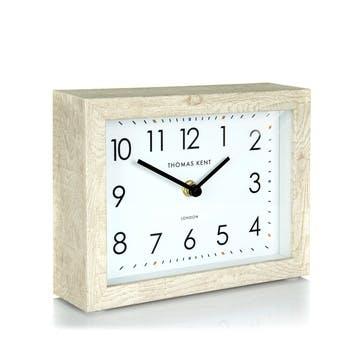 Smithfield Mantel Clock, Soaped Oak