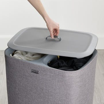 Tota, Easy-Empty, Laundry Basket, 90 Litre, Grey