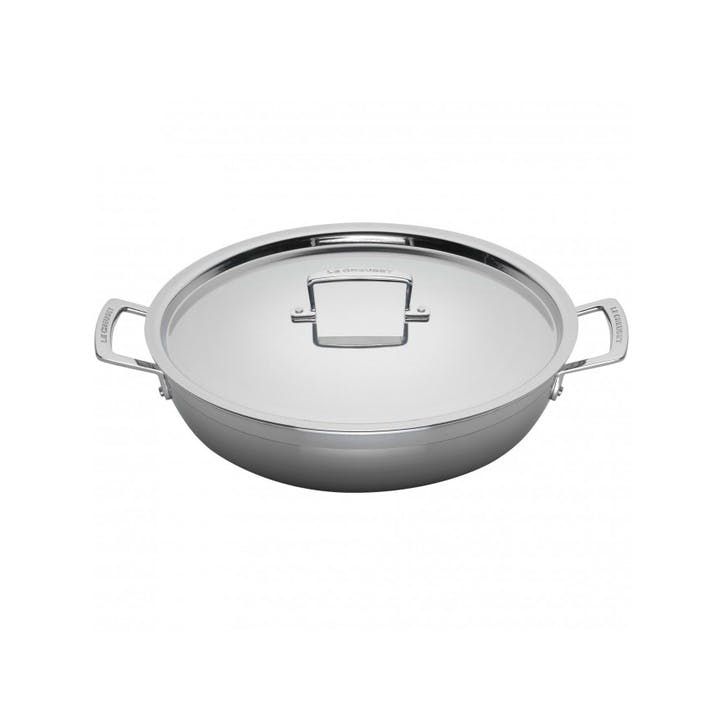 3-Ply Stainless Steel Shallow Casserole - 24cm