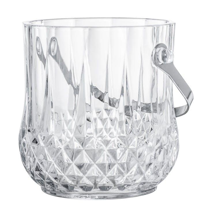Embossed Glass Ice Bucket