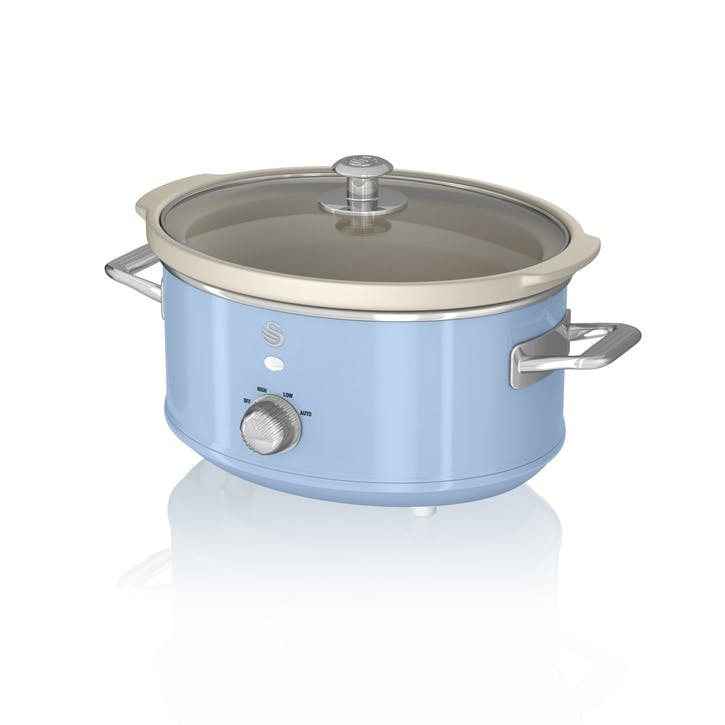 Retro 3.5L Slow Cooker, Blue