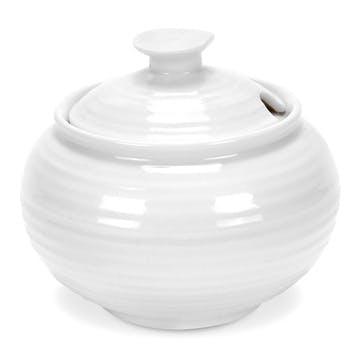 Covered Sugar Bowl; White