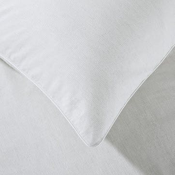Sandon Stripe, Standard Classic Pillowcase, White/Grey