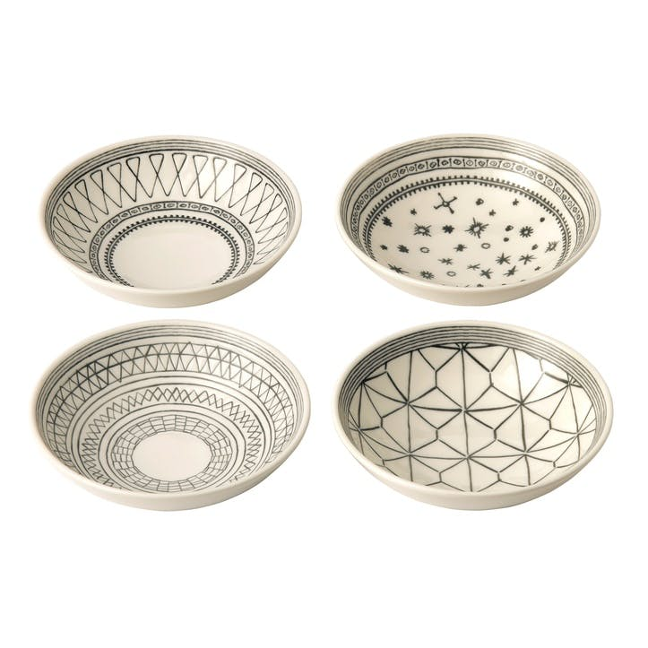 ED Ellen DeGeneres Bowl, Charcoal Grey, Set of 4